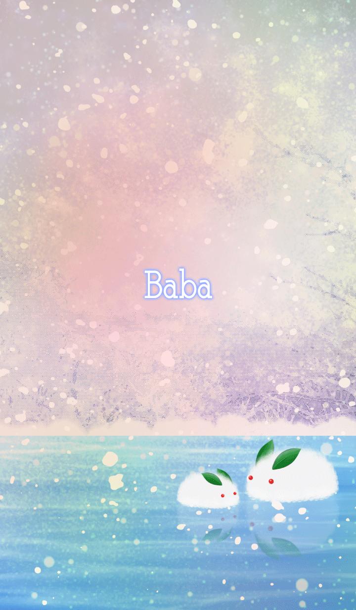 Baba Snow rabbit on ice