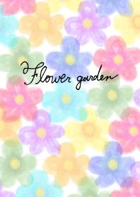 Flower garden-Colorful-