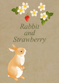 Rabbit and Strawberry (brown)