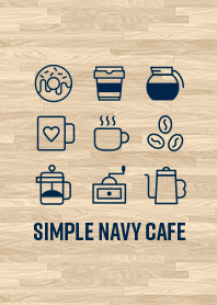 Simple Navy Cafe