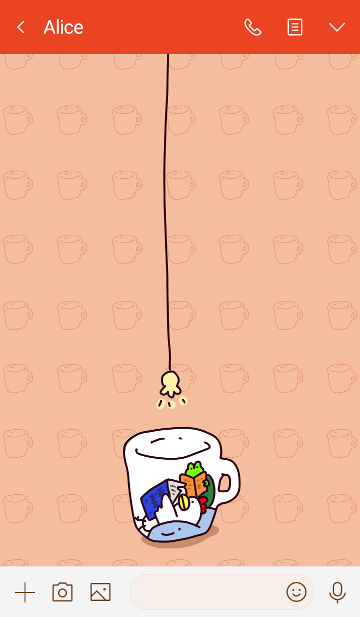 Chicken and frog in a mug