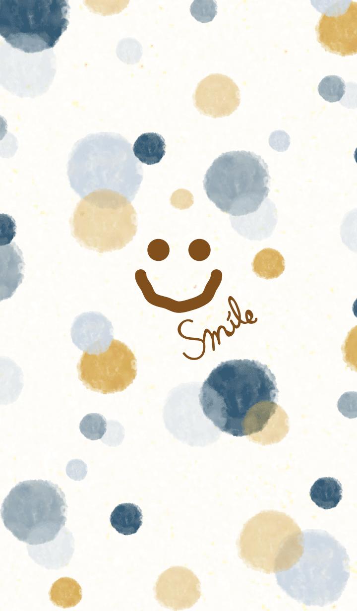 Smile - Adult watercolor Polka dot-
