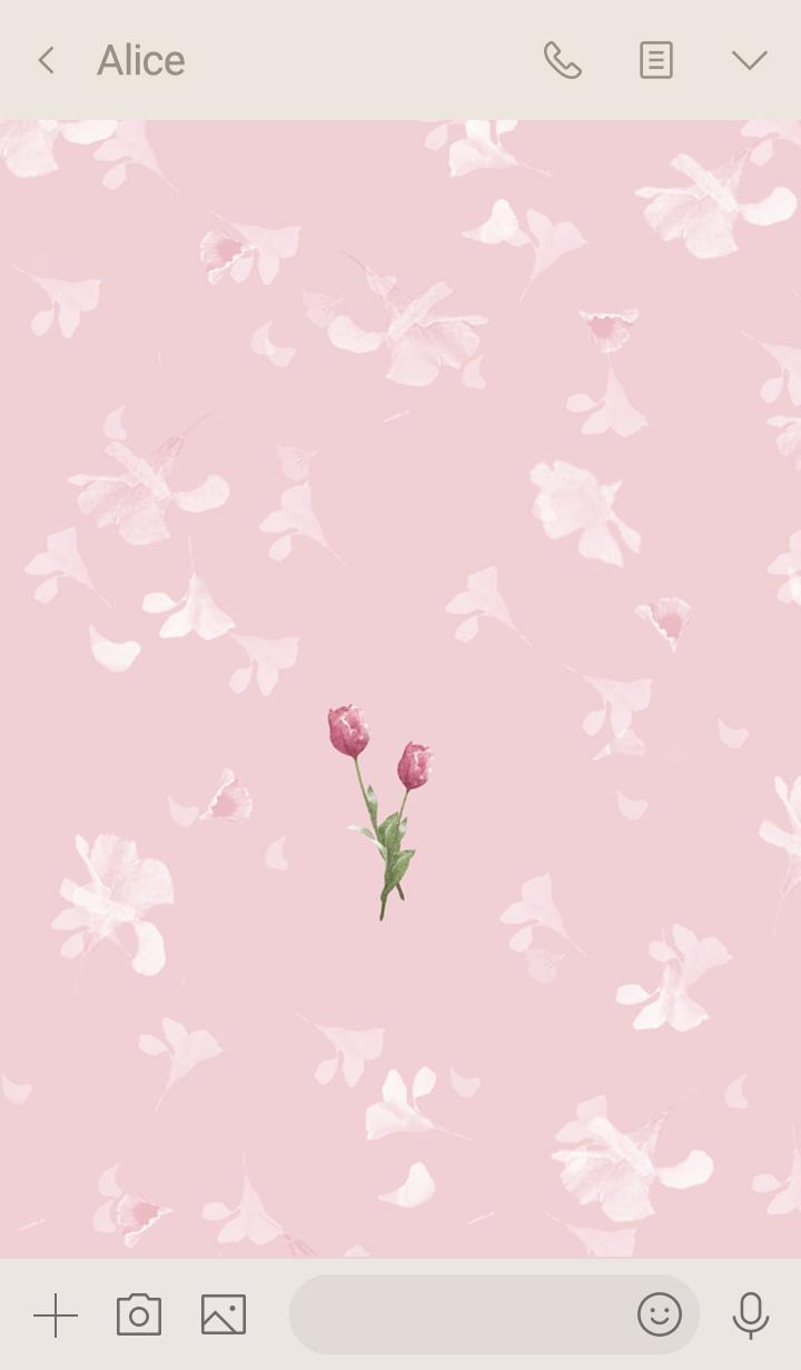 スプリング・チューリップ・ピンク