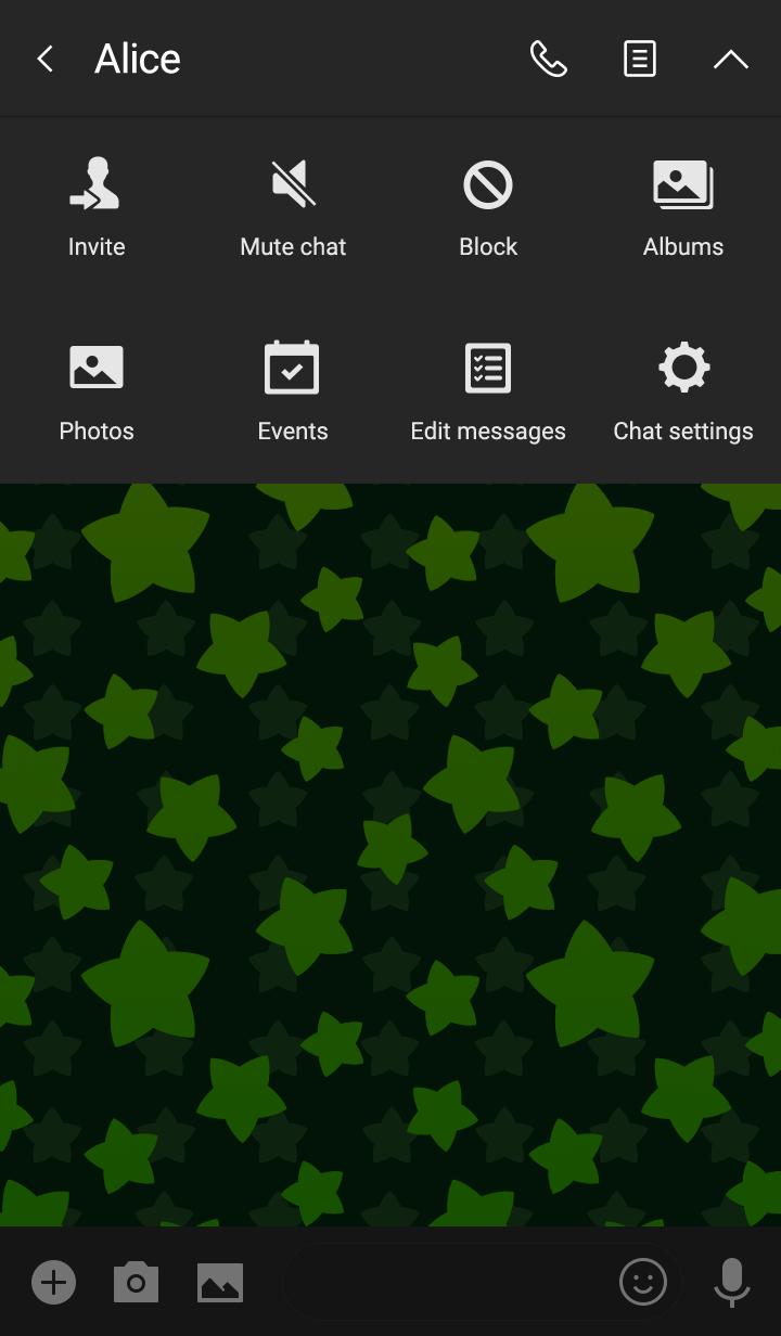 Starry sky -Green-