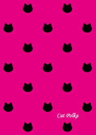 Cat Polka[Black and Pink]