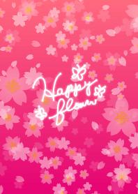 Happy flower-Cherry Blossoms Pink-joc