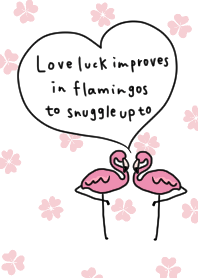 I love you in a clamshell flamingo #pop