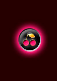 Dark cherry red button