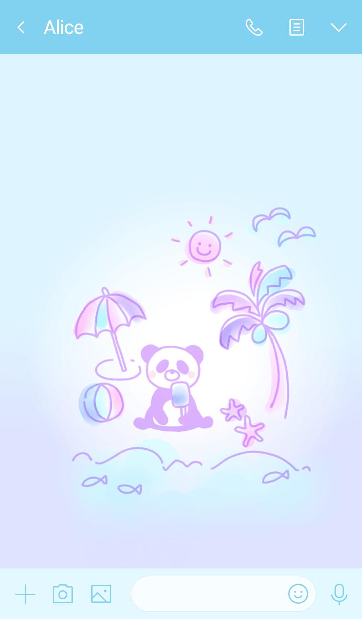 Enjoy the beach Panda2.