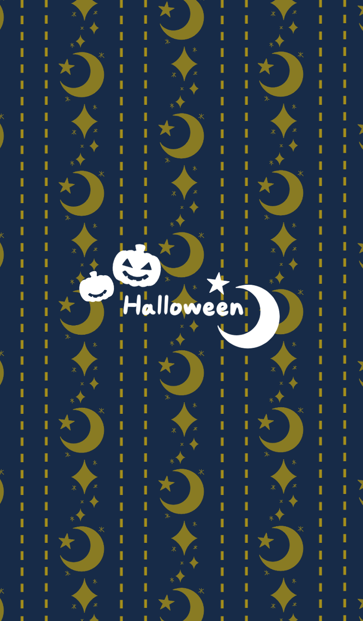 Night moon and stars -Halloween2019-