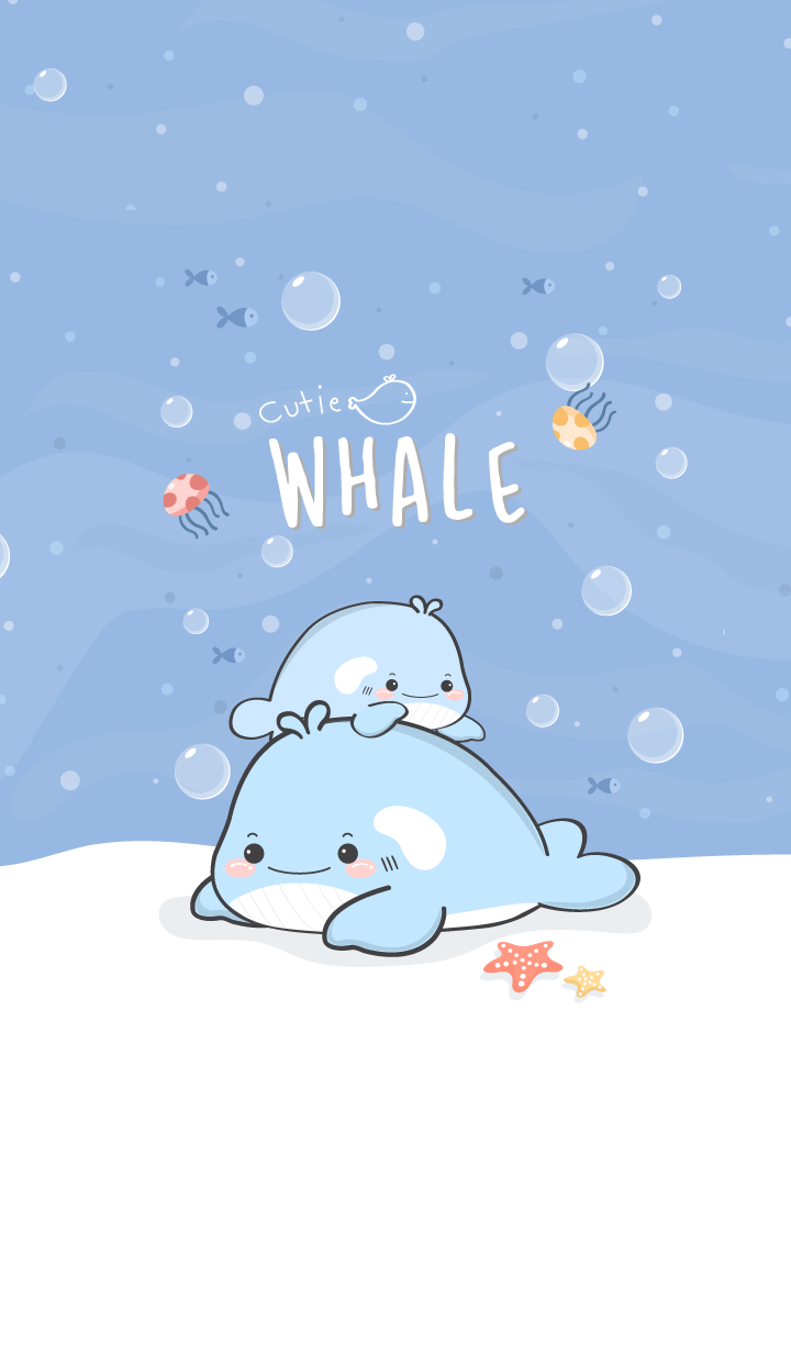 whale cutie (sea blue ver.)