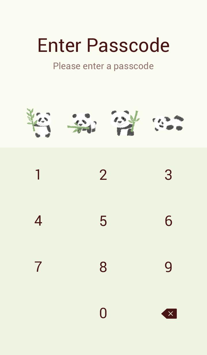 Panda has bamboo