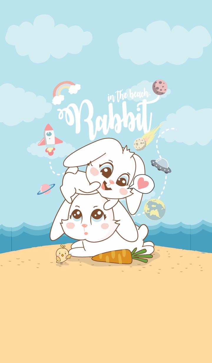 Rabbit in The Beach. (Galaxy ver.)