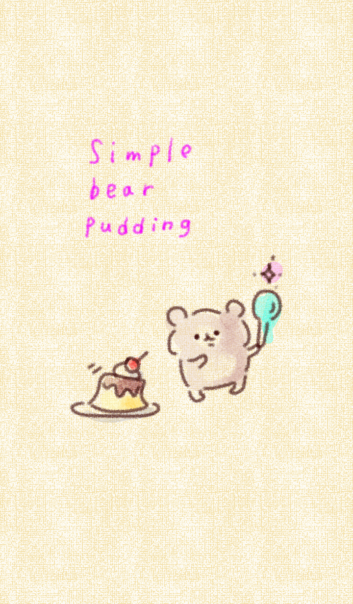 Simple bear pudding