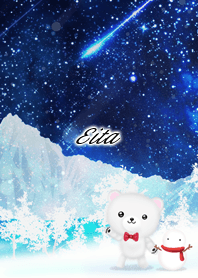 Eita Polar bear winter night sky