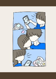 Boyfriend and girlfriend and blue 2