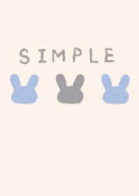 dull color rabbits blue
