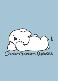 Over Action Rabbit -Blue beige-