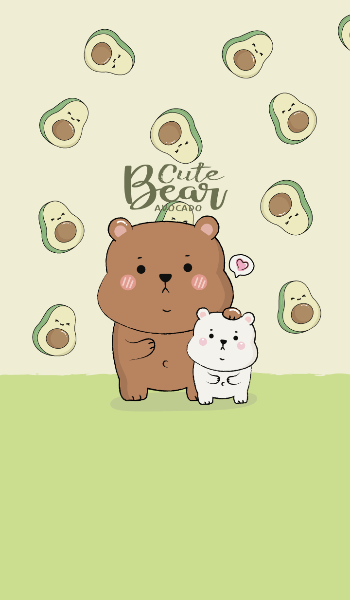 Bear Cute Avocado Theme.