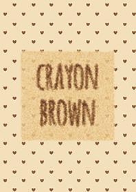 Crayon Brown 4 / Heart
