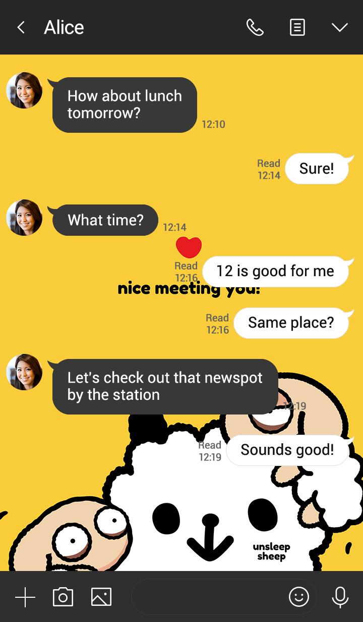 Unsleep Sheep : Nice meeting you