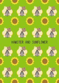 HAMSTER AND SUNFLOWER