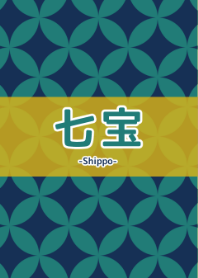 Japanese pattern -Shippo- Blue Green 2