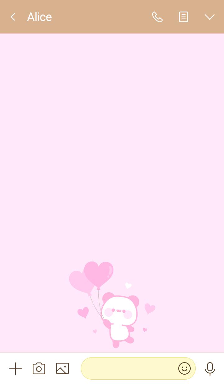 Message panda heart