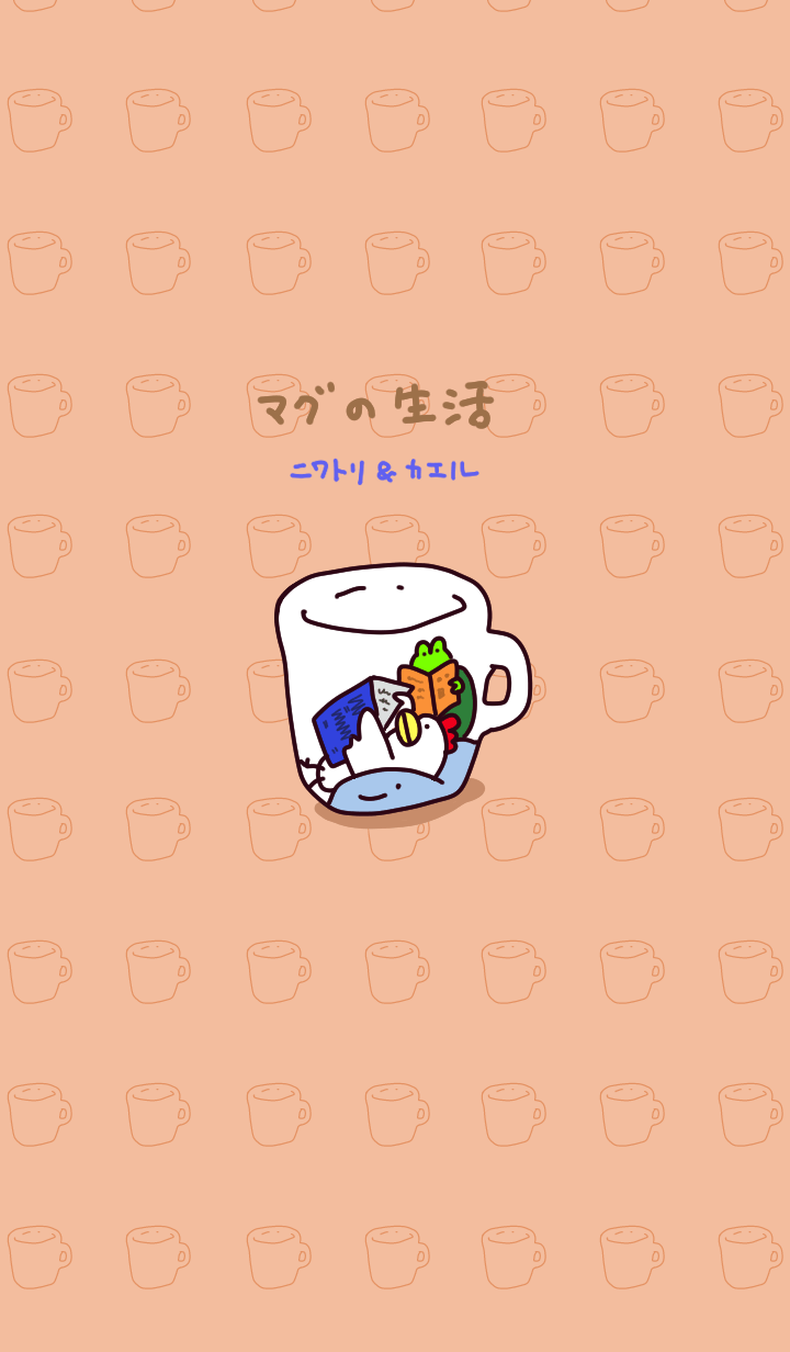 Chicken and frog in a mug(01)