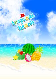 tropical beach (fruit, sea, summer)