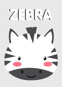 Simple Cute Face Zebra Theme