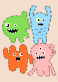 Many cute monsters