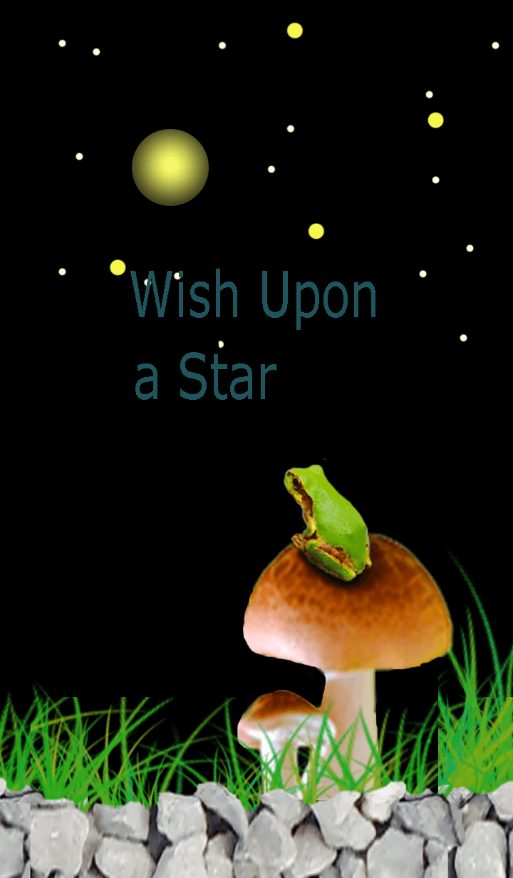 Wish Upon a Star! Cute frog