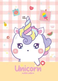 Unicorn Scottish Pattern Cream