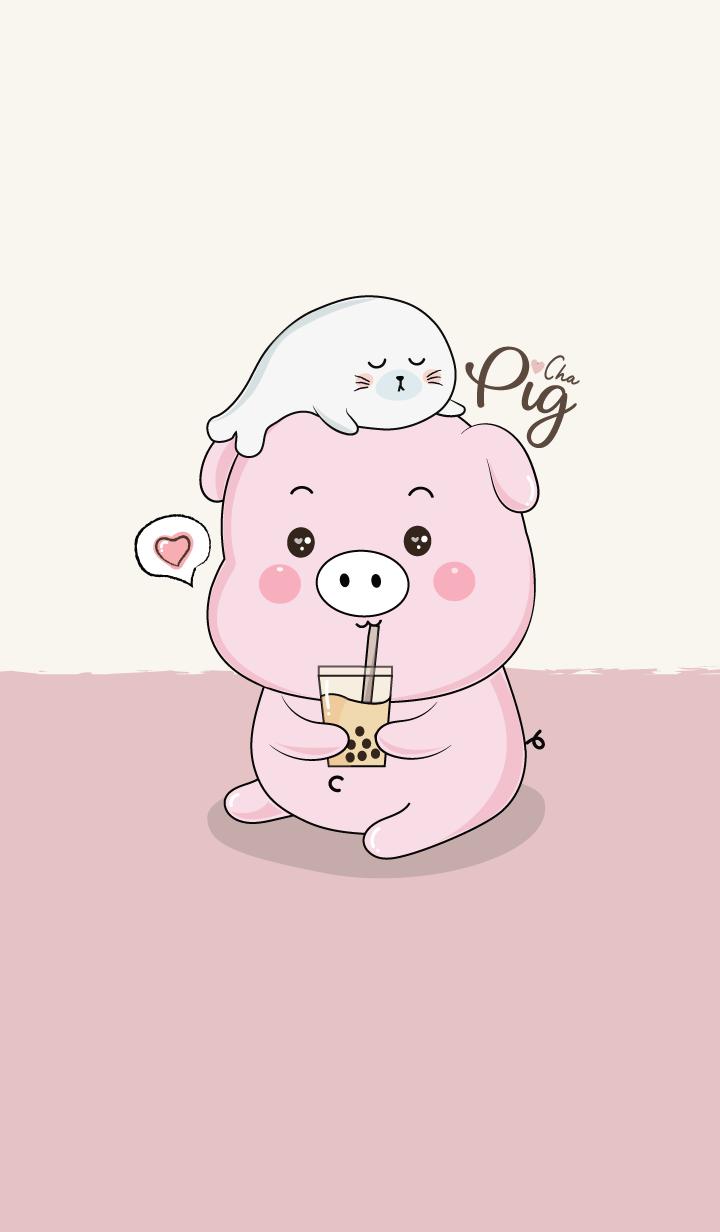Pig love Cha & Seal