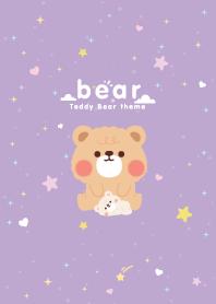 Teddy Bear Minimal Violet