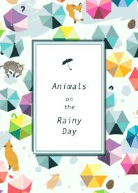 Animals on the Rainy Day