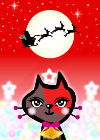 Cute red brown cat! Christmas