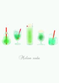 Melon soda summer