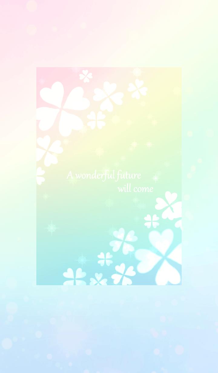 幸せいっぱいの虹色クローバー♪♪