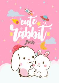 Rabbit Lovely Galaxy Pink