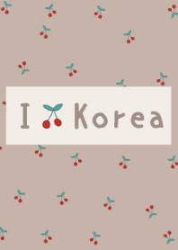 -beige brown- korean cherry