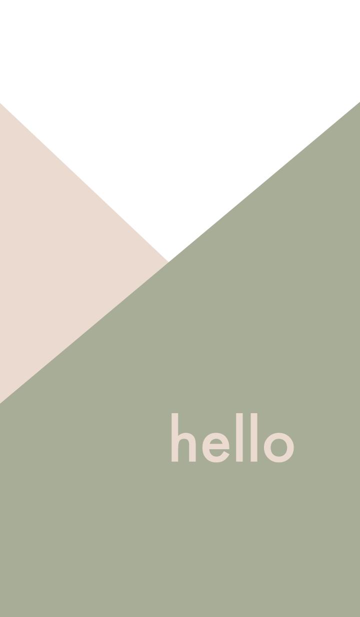 hello - カーキ&ベージュ