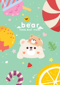 Teddy Bear Minimal Mint