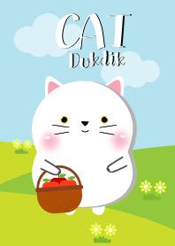 Poklok White Cat Dukdik Theme