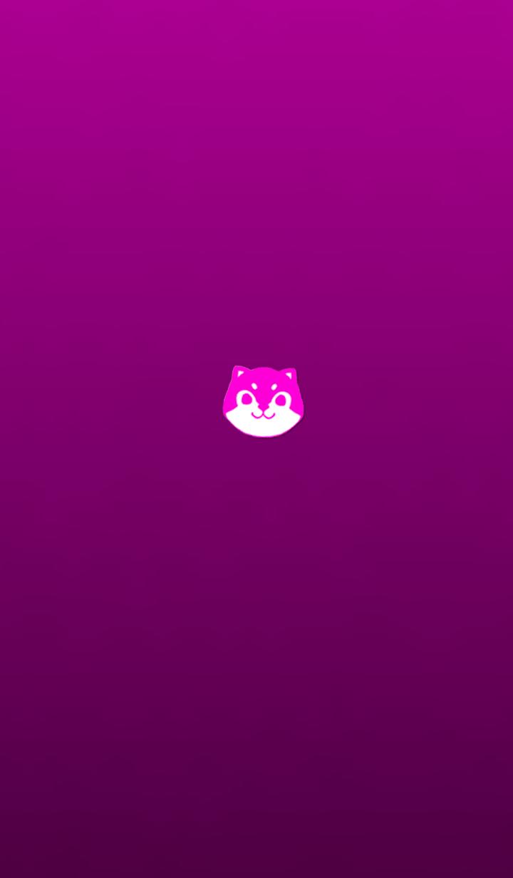 Simple shiba inu pink