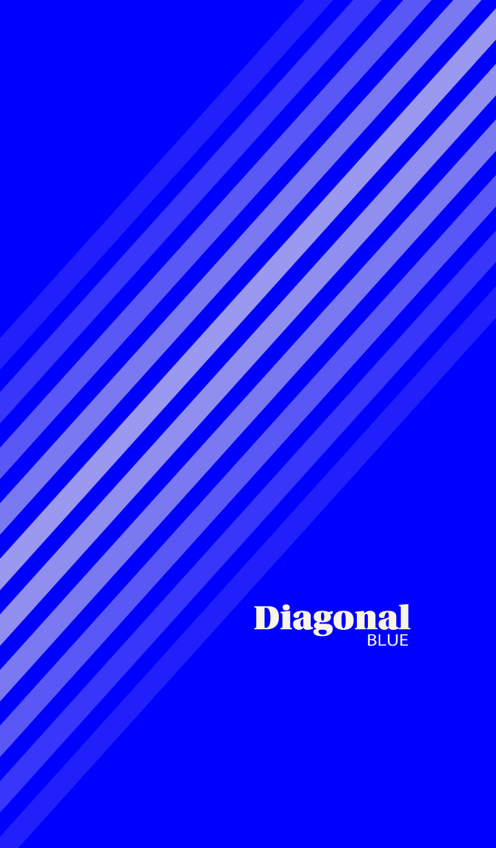 Diagonal Blue