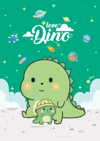 Dinos Love Galaxy Green