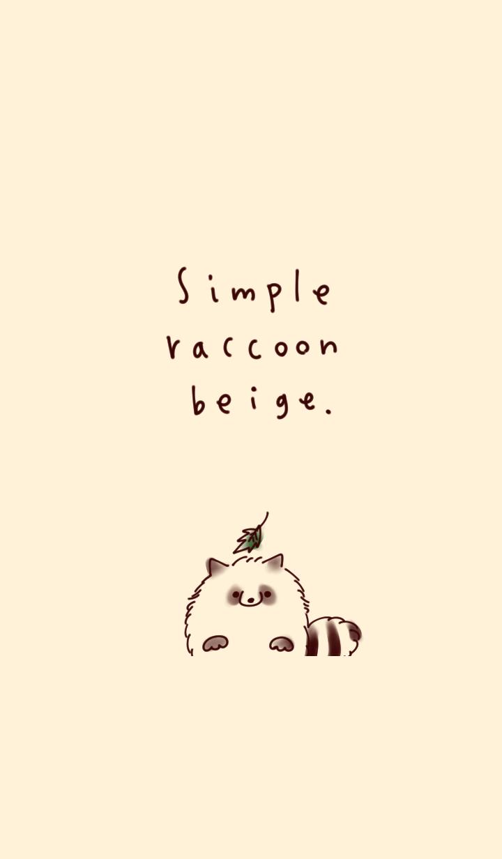 Simple raccoon beige
