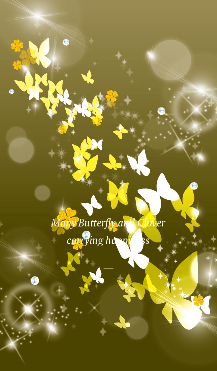 Gold : Lucky butterfly & clover